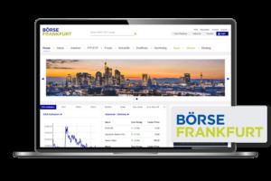 Frankfurt stock exchange customer laptop