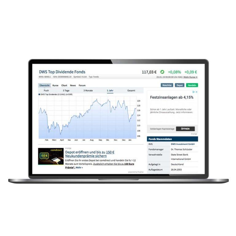 Laptop funds ETFs